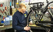 Service & reparatie van fietsen